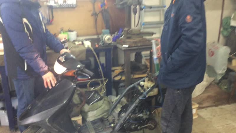 Honda Tact - первый запуск после капитального ремонта