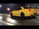Fast R34 1000 HP R34 GTR Skyline doing a couple of warm up passes Sequential Gearbox