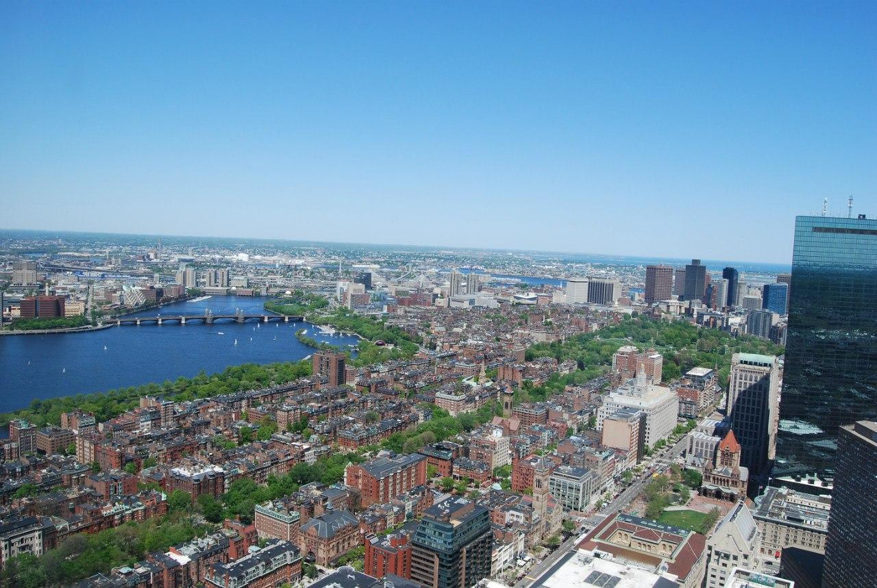 Вид с prudential tower 52 этаж