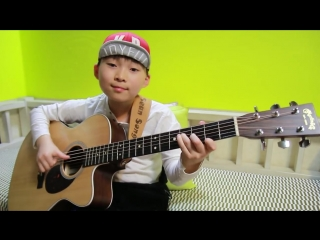 Hotel California (Eagles) fingerstyle guitar arranged cover by 9 year-old kid