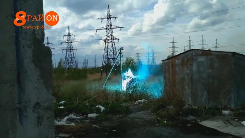 В Среднеуральск в гагаринских гаражах замкнуло провода.
