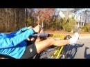 Maria testing Cruzbike Vendetta bullhorn bars