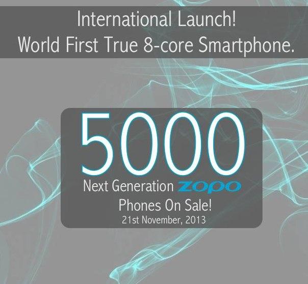 Zopo первые в гонке 8 ми ядерных смартфонов