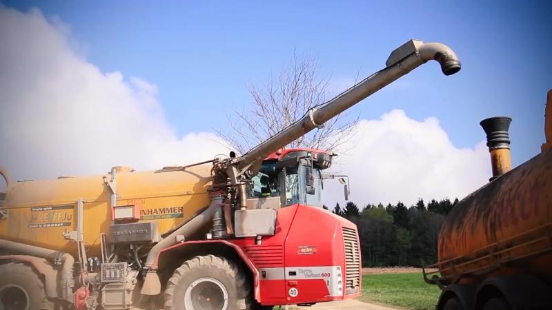Lohnunternehmen Reiff HOLMER Terra Variant 600 2 FENDT with slurry tanker