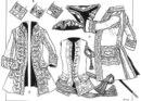 """а). Генеральский мундир по регламенту 1745 с. Кафтан, камзол, шляпа, шпага и шарф. б).  """"Неуставные """" варианты..."""
