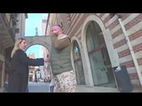 Видео,как Валерий Ананьев зачморил оплеванного рус.пропаандона и десантника Артема Шейнина в Италии!