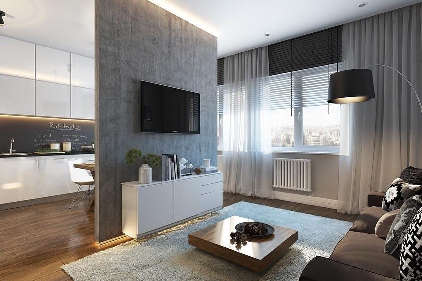 Проект  однокомнатной квартиры - 32 кв.