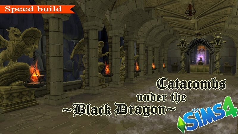The Sims 4: Building ● Catacombs under the manor Black Dragon. Inspired Black Mirror castle