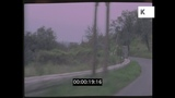 Drive Through Coastal Village, 60s, 70s France from 35mm