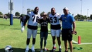 UFC Champion Cris Cyborg Visits NFL Los Angeles Chargers FightForLA training camp.