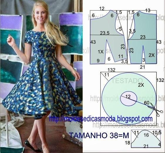 Шьем летние платья. Выкройки. (5 фото)
