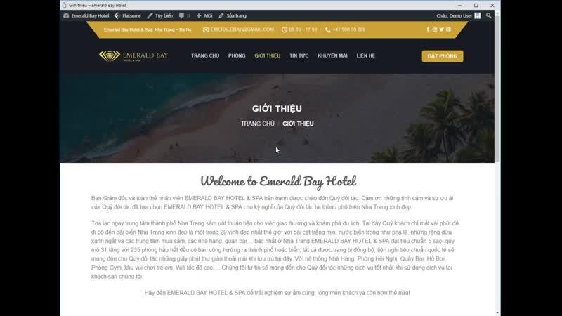 Tải Theme WordPress Website khách sạn