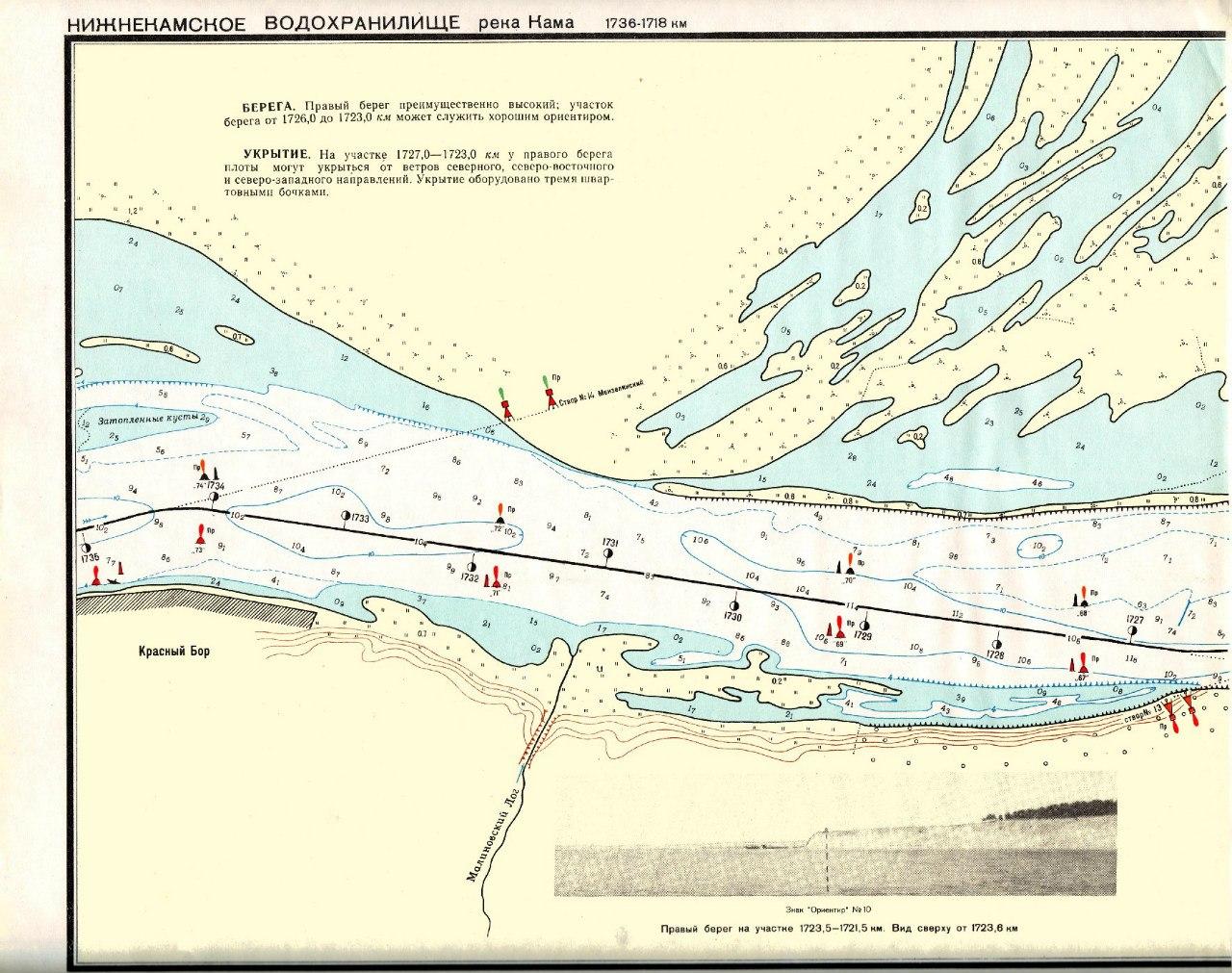 карта реки или рыбалка