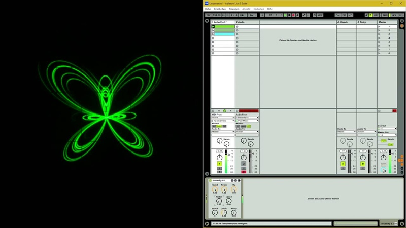 Max for Live oscilloscope patch butterfly 0.1