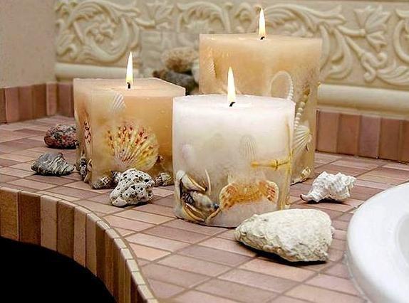 Свечи своими руками красивые