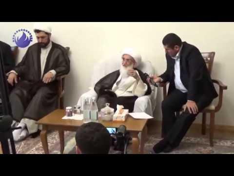 Ayətullah Həmədani ilahiyyatçılarla görüşdü