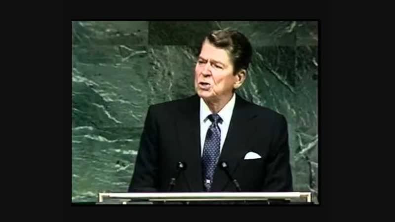 President Ronald Reagan mentions Alien Threat at Fallston_ UN National Strategy Forum