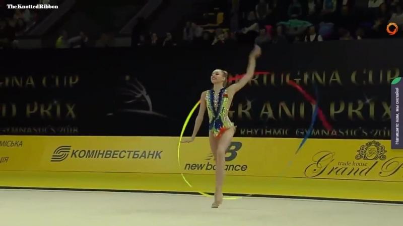 Анастасия Салос(лента), финал- Кубок Дерюгиной 2018