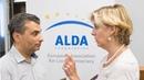 Выступление Льва Шлосберга на встрече с генеральным секретарем ALDA Антонеллой Валморбида