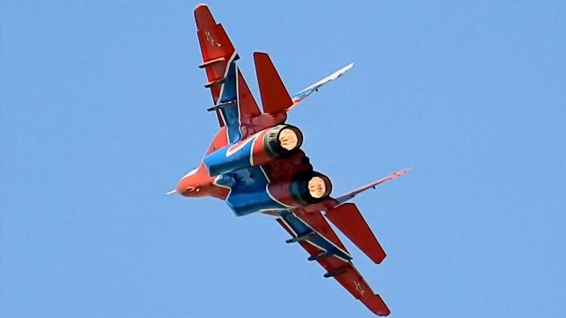 ПОЛНЫЙ ФОРСАЖ 🔥 МиГ 29 Одиночный пилотаж и посадка | Авиадартс 2018