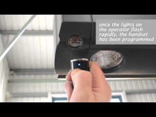 How To Program a Hormann Handset to a new Bi Secur Hormann Promatic Opener