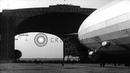German airship LZ 129 Hindenburg maneuvered into hangar at Lakehurst Naval Air Stock Footage