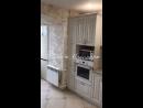 Кухня с фасадами МДФ шпон с патиной