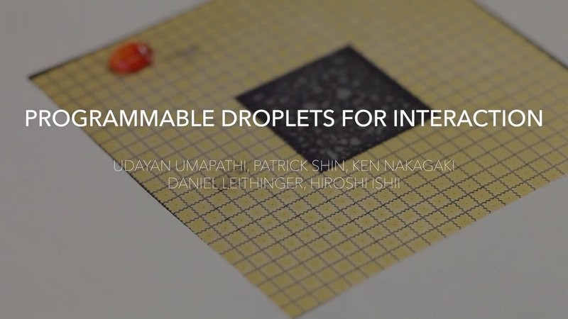 Programmable Droplets for Interaction