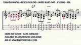 Cigar Box Guitar - Blues Overload - Muddy Blues 2 - 3 String Guitar - GDG