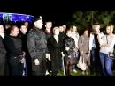 Донецк. 18 апреля, 2014. Тимошенко в Донецке возле стадиона Шахтер.