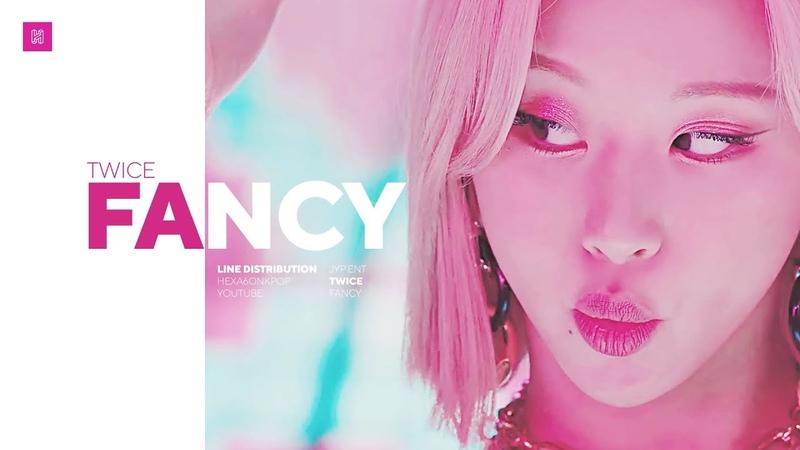 TWICE - FANCY Line Distribution (Color Coded) | 트와이스 - 팬시
