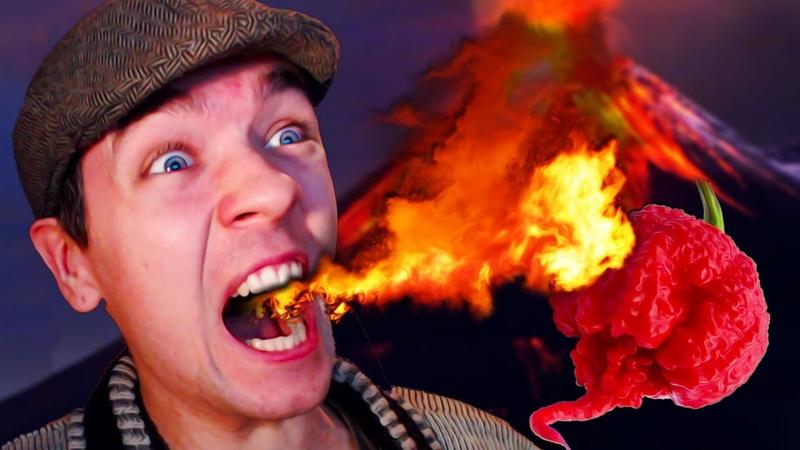 Eating The Worlds Hottest Pepper EVER - Skate 3 Challenge!