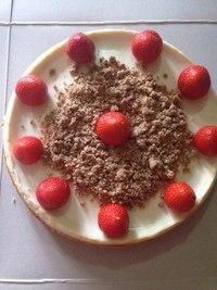 Творожный торт из песочного теста