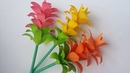 DIY Paper Flower How to Make Beautiful Paper Flower Stick With Colour Paper Siam Tulip