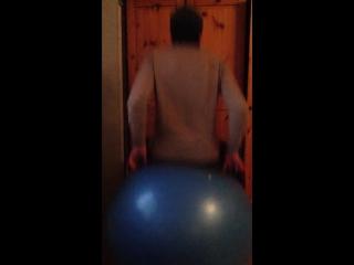 Bouncing on my big blue ball