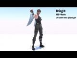 New Bring It Emote Animation - Price 200 V-Bucks - Description Lets see what youve got - Fortnite FortniteBR Fortniteleaks