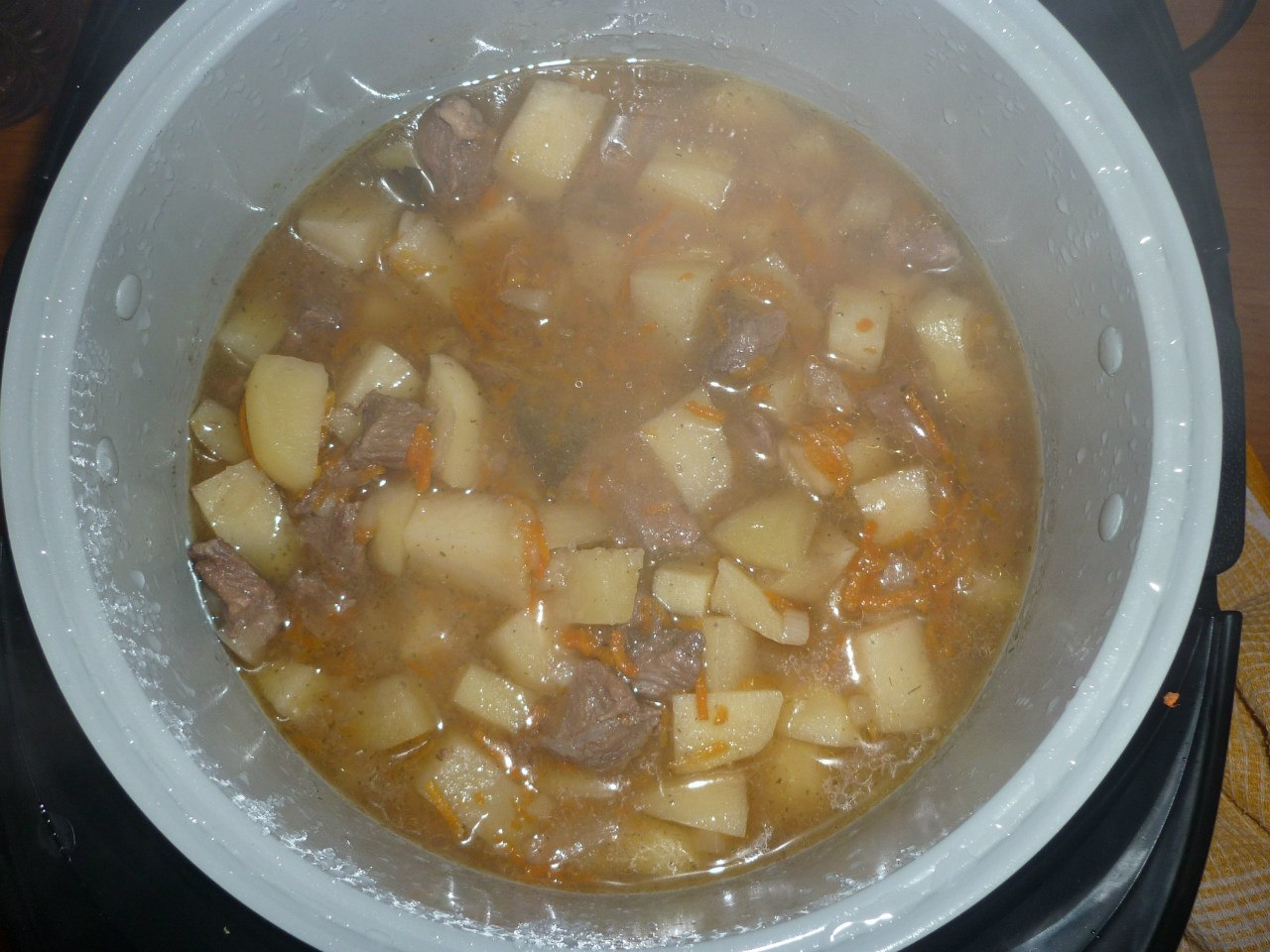 Мясо с картошкой в мультиварке рецепты поларис 0517
