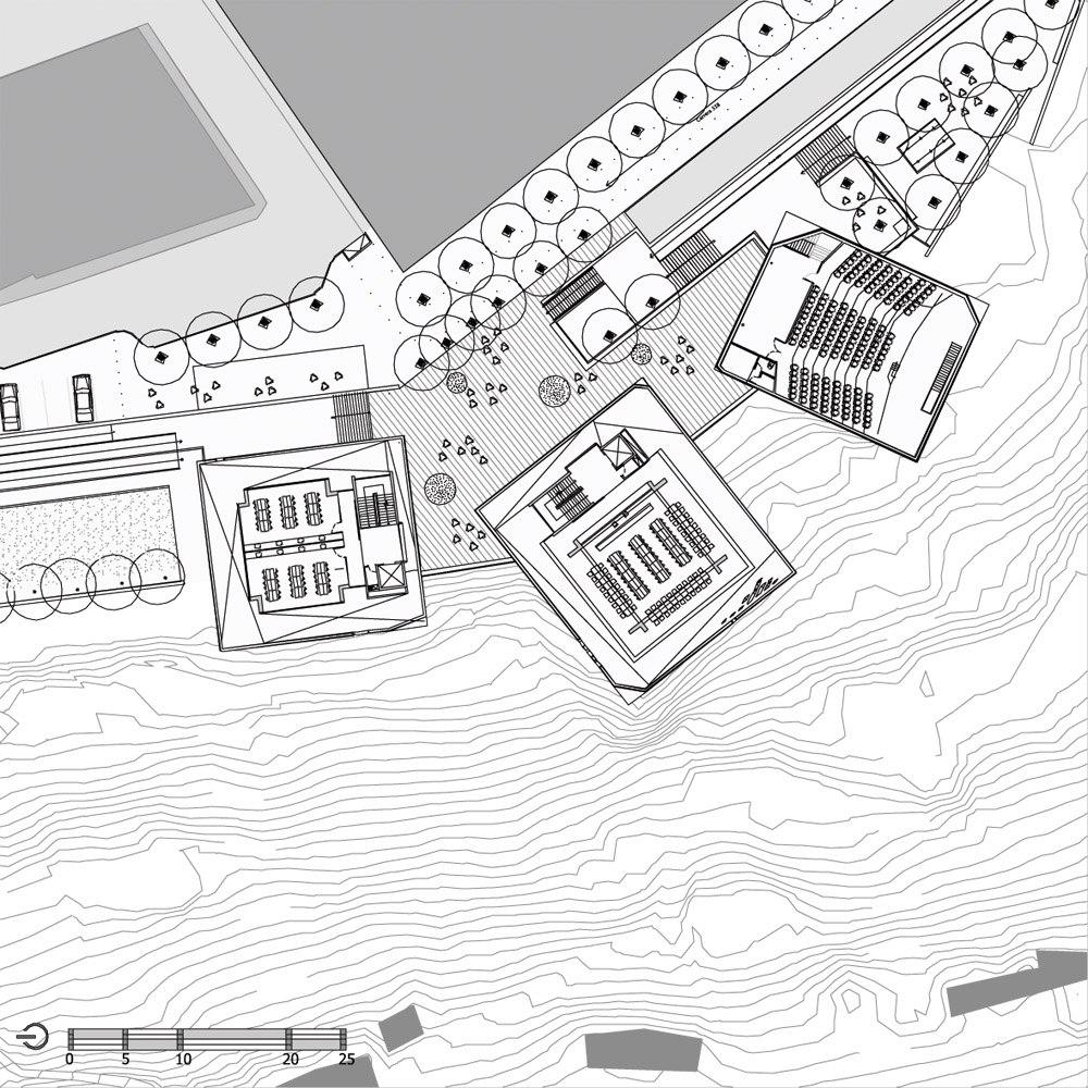 Parque Espana. Колумбийские информационные кубики от студии Mazzanti Arquitectos. 20 фото