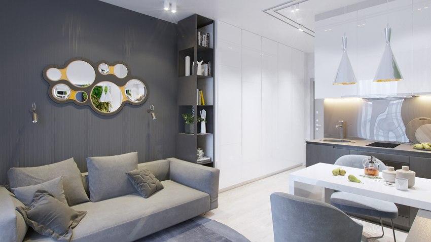 Проект квартиры 21 м.