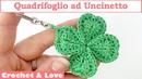 Tutorial Quadrifoglio ad Uncinetto (sub. English y Español)