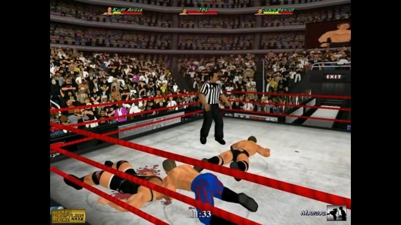 Chris Benoit vs JBL vs Kurt Angle