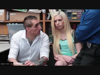 Joseline Kelly & Tommy Gunn [ Blondes &  In the office &  With talk / Riding dick, Sex in clothes, Robber, Cumshot in mouth]