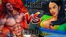 SFV: yuhi-hikali (Necalli) vs. mishie-oishi2 (Laura) | Street Fighter V