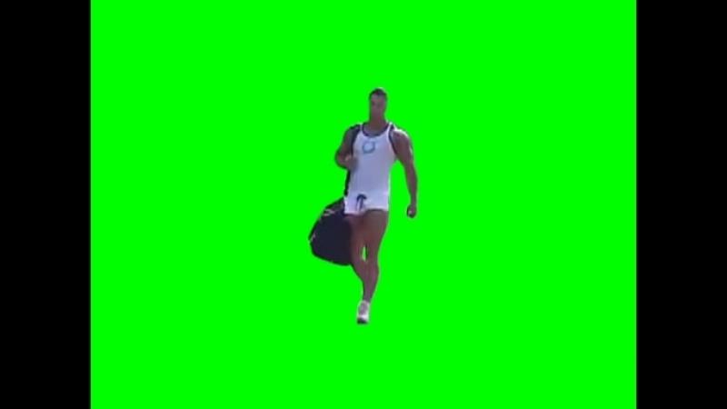 Gachimuchi Going Kristian on a green screen Идущий Кристиан на зелёном экране
