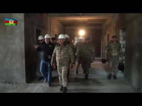 Müdafiə naziri bölgələrdə yeni inşa edilən bir neçə hərbi obyektdə olub - 01.02.2019