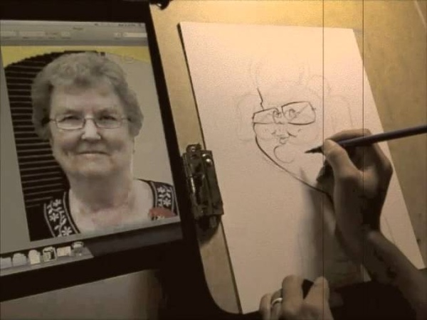 BW Gift Caricature Drawing 12