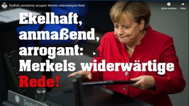 Merkels widerwärtigste Rede