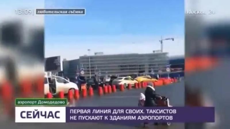 Столичным аэропортам грозят огромные штрафы за недопуск таксистов к первой линии