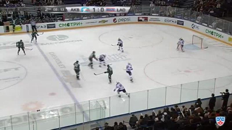 Моменты из матчей КХЛ сезона 14/15 • Гол. (1:1). Голубев Денис (Лада) забросил шайбу и сравнял счет в матче. 13.02