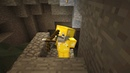 Хотел снежную бабу получил шахту - Minecraft classic 3
